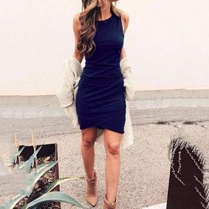 Women's casual ruched short short mini dress 🦋
